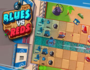 Play TINY BLUES VS MINI REDS on Games440.COM